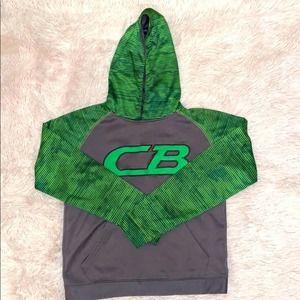 CB Sports Green & Gray Boys Hoodie